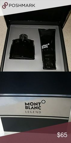 cologne Mont Blanc legend cologne. 1.7 oz cologne and a 3.4 oz aftershave. brand new never used. Montblanc Other
