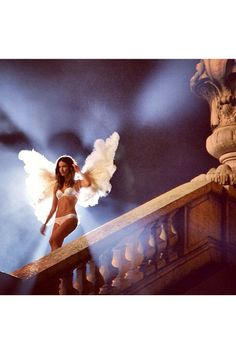 This Week In Pictures: Victoria Secret shoots the Christmas Ad campaign last night at the Louvre in Paris.