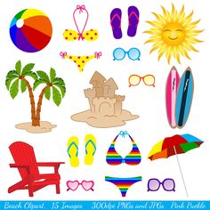 Beach Clipart Clip Art Ocean Summer Vacation