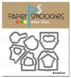 Bungalows Dies (paper smooches) $`6.95 See also: Matching stamps http://www.papersmoochesstamps.com/category_s/110.htm