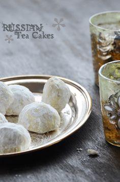 Russian TEA CAKES easy to make/ pastelitos rusos para té receta sencilla y deliciosa