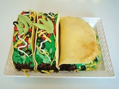 Taco' bout a good prank (yes, we went there). We almost want to recommend you caution your dad not to pick up one of these tacos from The Butter End Cakery in his hands. But... prepping him with a fork would be no fun.