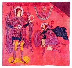 Хоругвь Явление Архангела Михаила Иисусу Навину (Знамя Сапеги), конец XVI в. Реставрирован, перенесен на новую основу, ГТГ