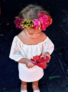 Flower crown for a fiesta birthday party