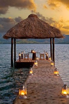 Set for 2 !... a Personal Waterside Sunset Lounge somewhere in Paradise on Earth...