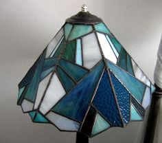 Straight lines lampshade - unlighted - Stained Glass - LAMPS - Gallery - Stained Glass Town Square