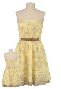 Floral Belted Dress. I have this dress and it's so cute. Not as pale yellow as the photo though.