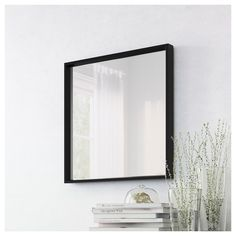NISSEDAL Mirror, black, 25 The timeless design works just as well in the living room as in the bathroom. Matches nicely with our MALM series. Malm, Ikea Nissedal, My First Apartment, Restroom Design, Walk In Shower Designs, Plastic Foil, At Home Furniture Store, Wall Brackets, Flats