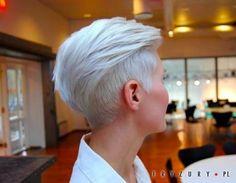 Znalezione obrazy dla zapytania krótkie fryzury damskie wygolone boki
