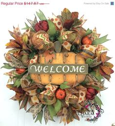 Hey, I found this really awesome Etsy listing at https://www.etsy.com/listing/205791207/on-sale-deco-mesh-fall-burlap-wreath