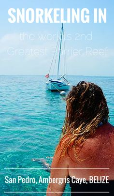 Here I sit. On the edge of a boat gazing at a crystal clear ocean. Caye Caulker & Hol Chan Marine Reserve. #Belize #snorkeling #ocean