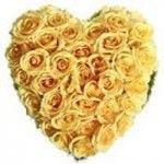 50 Yellow Roses Heart Shape Arrangement. Rs.1,699