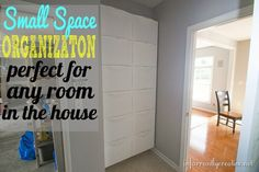 Looking for the perfect organization solution for a small space? Check out how I utilized vertical storage space in my small mudroom with IKEA Trones bins. These are perfect for shoes, lunch boxes, library books, first aid kits, etc...