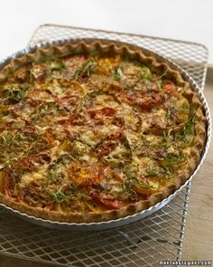 A tomato tart, layered with roasted garlic and fontina cheese, is a perfect way to use the garden's bounty.
