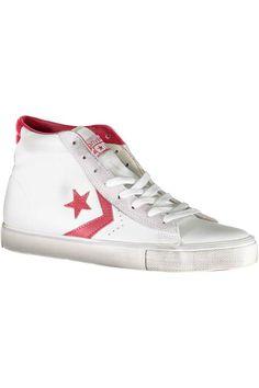Scarpa Donna Converse (BO-155098C STAR WHITE TANGO RED) colore Bianco