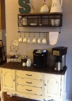 Need a coffee bar in my kitchen... Will do during the reno