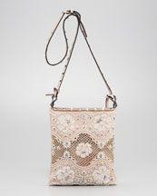 Valentino Rockstud Lace Crossbody Bag