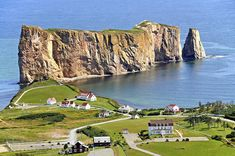 Percé Rock, Quebec....list of 100 Places to Visit in Canada This Summer
