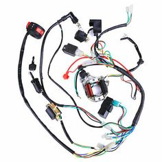 7 Best Tvs images | Mini chopper, Motorcycle wiring, Tvs Chopper Wiring Harness Kit on chopper speed sensor kit, chopper seat kit, chopper exhaust kit, chopper frame kit, chopper oil filter kit, chopper motor kit, chopper clutch kit,