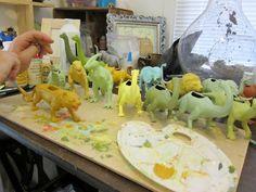 The Inexplicable Rabbit: Dinosaur Planter Tutorial Dinosaur Land, Dinosaurs, Diy Craft Projects, Diy Crafts, Craft Ideas, General Crafts, Make Your Mark, Boy Birthday, Succulents