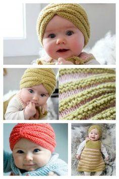 Baby Turban Hat Free Knitting Pattern
