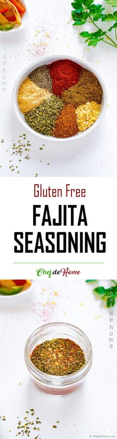 Homemade Fajita Seasoning - Make vibrant and flavorful chicken fajitas with this easy 5-minute homemade fajita seasoning recipe!