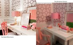 Comparison of the real office and the miniature version I made. | Flickr - Photo Sharing!