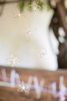 These DIY orbs take only a minute to make, and add a little sparkle to any table setting. Celestial Wire Orbs | 37 Things To DIY Instead Of Buy For Your Wedding