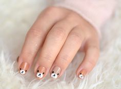 Nail art ours brun