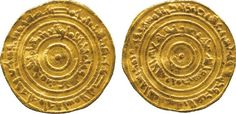 Egypt Fatimid Gold Coin Al-Aziz 365-386 AH (975-996 AD) Dinar 375 AH / 985 AD Very Fine