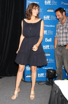 Marion Cotillard Mini Dress - Marion Cotillard was a cutie in her navy mini dress during the 'Little White Lies' press conference.