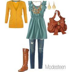 jeans modesto e com estilo