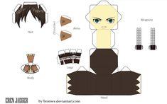 Eren Jaeger - papercraft template by Bronwe.deviantart.com on @deviantART