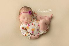 Newborn girl floral romper with lace details Aria by adorableprops