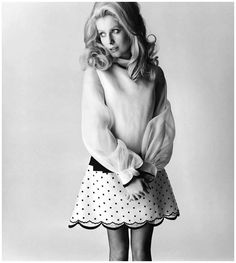 vintage everyday: 35 Extraordinary Black and White Portrait Photos of and Celebrities Taken by David Bailey David Bailey, Romain Gary, Vogue, Catherine Deneuve, Black And White Portraits, Black White Fashion, Portrait Photo, Fashion Photography, Style Inspiration
