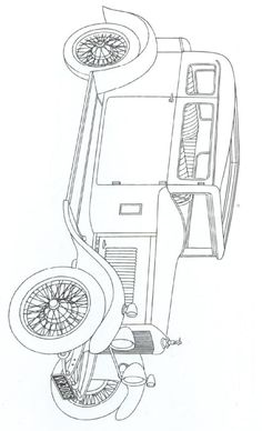 coloring page Classic cars Kids-n-Fun
