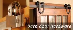 Hardware for sliding doors and possible doors.