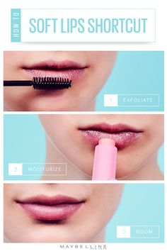 Just between us babes on the go: If you need to spruce up your pout while you're out and about, grab some clean mascara wands and your favorite Baby Lips balm at your local drug store, then: 1. Exfoliate 2. Moisturize 3. AND BOOM! Freshly softened, luscious lips!