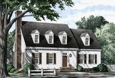 House plans, cottage homes, house floor plans, colonial exterior, cape styl Colonial Cottage, Colonial House Plans, Cottage Homes, Colonial Exterior, Cottage Style, Cottage Exterior, Dutch Colonial, Best House Plans, House Floor Plans