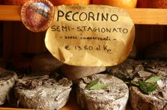 We stop in PIENZA, Tuscany's capital of pecorino cheese, for a sample (or three). My favorite is this pecorino aged under walnut leaves. Pecorino Cheese, Queso, Wine Recipes, Tuscany, The Good Place, How To Memorize Things, Leaves, Tours, Italy