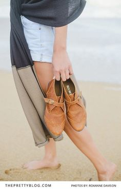 Slip in tan leather shoes | Shoes by Blu Betty | Photograph by Roxanne Davison |