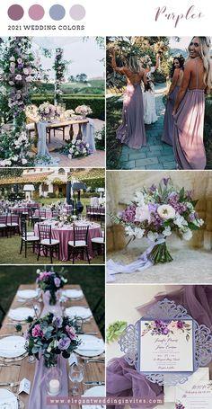 Purple Summer Wedding, Light Purple Wedding, Beach Wedding Colors, Wedding Ideas Purple, Summer Wedding Themes, Wedding Color Themes, Spring Weddings, Blue Green Weddings, Purple Themed Weddings