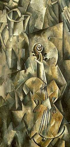 Georges Braque, Violin and Pitcher, 1910 (detail)