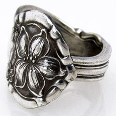 lovely antique silver spoon ring