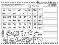 Yo aprendo las sílabas - Buscapalabras Bilingual Classroom, Spanish Classroom, Speech Language Pathology, Speech And Language, Home Learning, Learning Spanish, First Grade Reading Comprehension, Syllable, Spanish Grammar