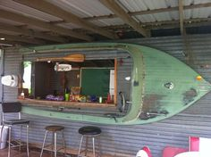 Bars Made From Boats | bar made from a boat!