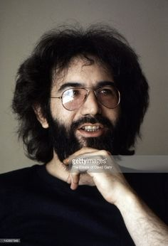 Grateful Dead guitarist Jerry Garcia in an interview session at the Hotel Navarro in April 1975 in New York City, New York.