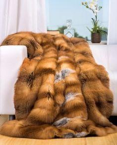 Full Pelt Red Fox Fur Blanket / Fur Throw Fur Comforter, Faux Fur Bedding, Faux Fur Rug, Fabulous Fox, Fur Accessories, Fur Blanket, Fur Throw, Fox Fur Coat, Warm Blankets