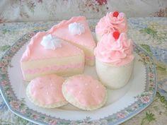 Princess Tea Party Felt Dessert Set. $20.00, via Etsy.