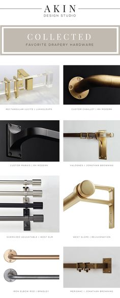 Akin Design Studio's Favorite Drapery Hardware